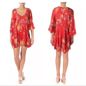 Free People Trapeze Floral Eyes On You Mini Dress